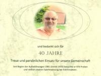 2012 09 07 Urkunde für 40 Jahre Spielmannszug Neumarkt