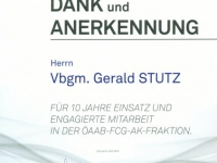 2014 06 04 Ehrenurkunde-ÖAAB-FCG-Arbeiterkammerfraktion