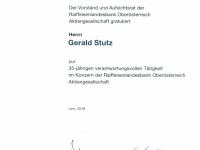 2018 07 10 Auszeichnung Jubiläum 35 Jahre RLB OÖ