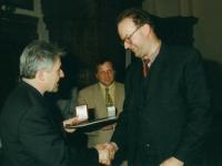 1997 04 14 Landessportehrenzeichen des Landes OÖ in Bronze mit LH Dr. Josef Pühringer