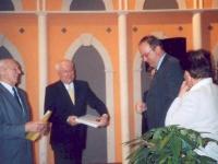 2004 03 14 ASVOÖ Ehrenzeichen Gold mit ASVOÖ-Präsident Robatscher und Willi Altenstrasser