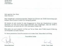 2012 03 20 Silbernes Ehrenzeichen des ÖAAB OÖ - Schreiben