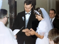 1986 05 10 Kirchliche Hochzeit Ringanstecken