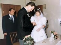 1986 05 10 Standesamtliche Hochzeit Kallham Ringaufstecken