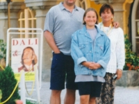 1996 07 30 Urlaub Faakersee Kärnten vor Schlosshotel Velden