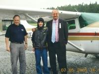 2005 05 07 Firmung Ged Baumgartner Markus Rundflug ab Suben mit Dr Sepp Lehner