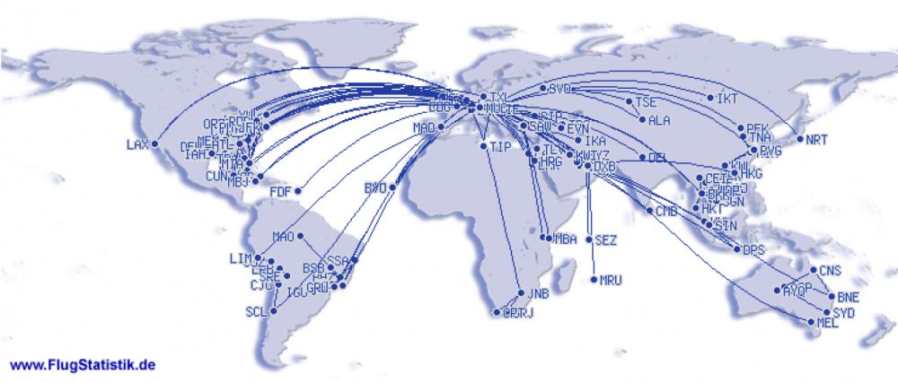 Flugrouten Weltkarte 1979_2017