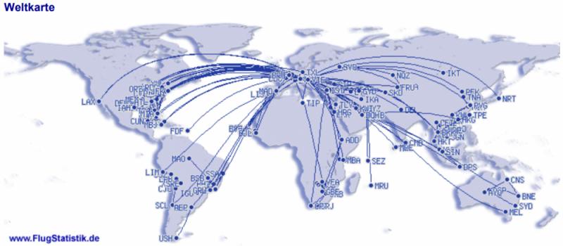 Flugrouten Weltkarte 1979_2020