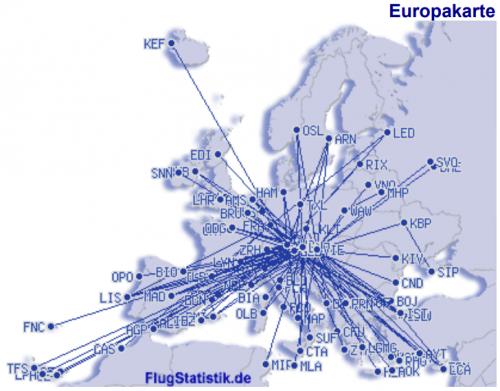 Flugrouten in Europa 1979_2020