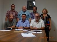 2015 08 27 Meine letzte Gemeindevorstandssitzung gesamter Vorstand mit Amtsleiter