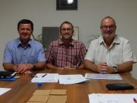 2015 08 27 Meine letzte Gemeindevorstandssitzung mit Bürgermeister und Amtsleiter Josef Etzl