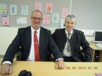 2013 09 29 Letzte NR-Wahl als Gemeindewahlleiter mit Stv Manfred Hofinger