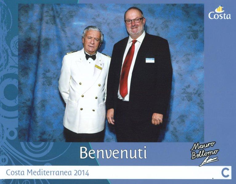 2014 07 29 Costa Mediterranea Kapitän Mauro Bellomo