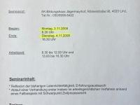 2008 11 03_04 AK Laienrichterausbildung Modul 2 Arbeitsrecht Einladung