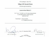 2009 12 01 Laienrichter Modul 3 Teilnahmebestätigung