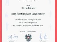 2016 12 01 Dekret der AK zum Laienrichter 2017-2021