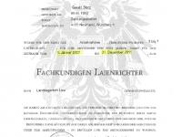 Ernennungs-Urkunde zum Laienrichter 2007-2011