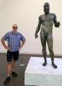 2017 06 13 Reggio Calabria Kalabrien berühmte Bronzestatue im Nationalmuseum