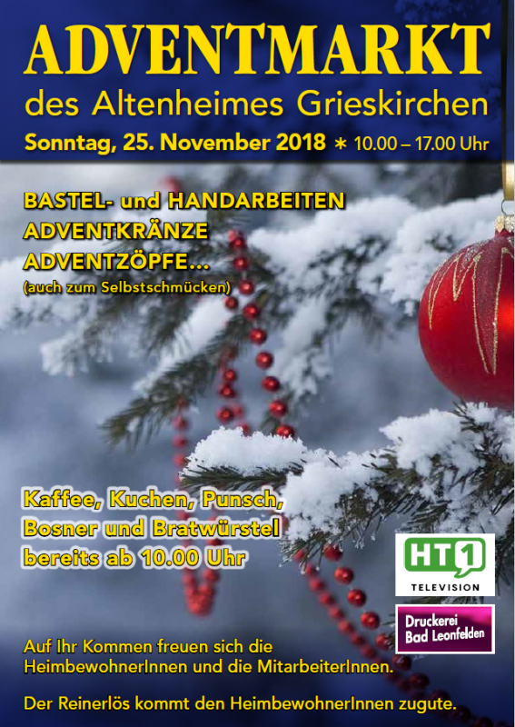 2018 11 25 Adventmarkt Altenheim Grieskirchen