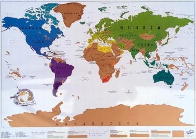 2018 01 14 Weltkarte Besuchte Länder Gerald