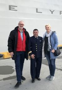 2019 03 03 Ushuaia Empfang durch Kapitän