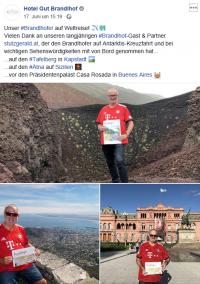 2019 06 17 Facebook_Eintrag vom Hotel Gut Brandlhof