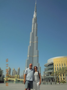 Burj Khalifa mit 828 m das höchste Gebäude der Welt