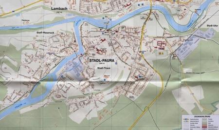 Ortsplan mit Straßen Stadl Paura