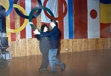 1993 01 23 Eröffnungswalzer Obmann Stv Gerald Stutz mit Gattin Ingrid