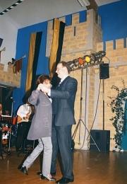 1999 01 30 Eröffnungswalzer Obmann Gerald Stutz mit Gattin Ingrid