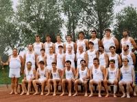 1990 07 14 Vöcklabruck 10 ÖTB OÖ Gauturnfest Vereinswettturnen Gruppenfoto