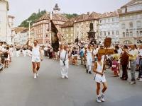 1991 07 13 Graz 8 ÖTB Bundesturnfest Festzug Vereinsvertreter