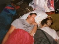 1991 08 17 Jahnwanderung Mauerkirchen  Vater und Tochter müde