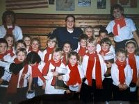 1998 12 05 Julschauturnen Karin mit ihrer Kinderriege