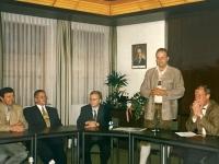 1999 07 09 Bezirksturnfest Neumarkt Gemeindeempfang Festobmann sagt Danke