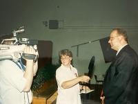 1999 07 10 Bezirksturnfest Neumarkt Festabend Fernsehinterview