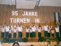1999 07 11 Bezirksturnfest Neumarkt Schlussfeier Hantelgymnastik 1