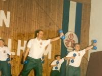 1999 07 11 Bezirksturnfest Neumarkt Schlussfeier Hantelgymnastik 2