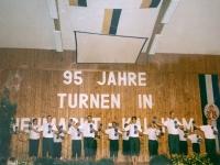 1999 07 11 Bezirksturnfest Neumarkt Schlussfeier Hantelgymnastik