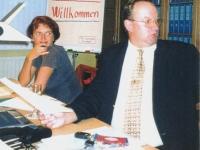 2000 09 15 Erste Turnratsitzung im neuen Sitzungszimmer Schriftführerin Petra Lindinger