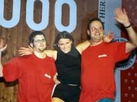 2000 12 02 Julschauturnen Bierkistengymnastik mit Rainer und Doris