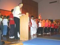 2008 12 06 Julschauturnen Der Obmann beim feierlichen Ausklang