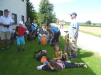 2011 08 12 Jahnwanderung Gmunden_Pause vor St Georgen