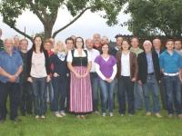 2012 06 06 Turnrat im garten von ehrenmitglied Ernst helfried