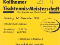 1992-11-14-öaab-tischtennis-ortsmeisterschaft-flugblatt