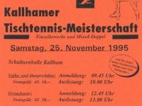 1995 11 25 ÖAAB Tischtennis Ortsmeisterschaft Flugblatt