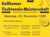 1996 11 23 ÖAAB Tischtennis Ortsmeisterschaft Flugblatt