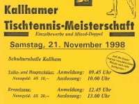 1998 11 21 ÖAAB Tischtennis Ortsmeisterschaft Flugblatt