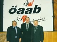 2000 01 21 ÖAAB Bezirkstag Bad Schallerbach alter und neuer BO mit LO Franz Hiesl