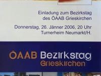2006 01 26 Neumarkt ÖAAB Bezirkstag Einladung 1